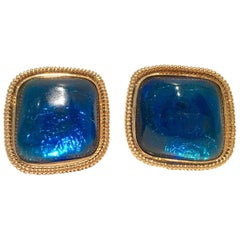 "Vintage & Modern Kennet Jay Lane Lucite ""Glitter"" Earrings"