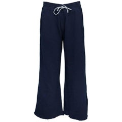 MOTHER Navy Lounge Roller Sweatpants Sz L NWT