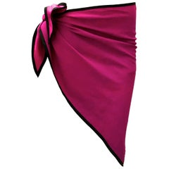 Yves Saint Laurent / sl silk scarf / shawl vintage