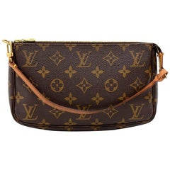 Louis Vuitton Pochette Accessories Monogram Canvas  Pochette Bag