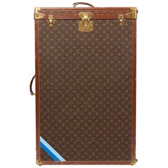 1980 Louis Vuitton Brown Monogram Coated Canvas Vintage Wardrobe Trunk
