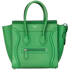 2015 Celine Mint Grained Calfskin Leather Micro Luggage Tote