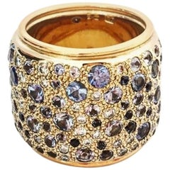 Pomellato ''Sabbia''  Collection 4,53 Carat Diamonds and Sapphires Band Ring