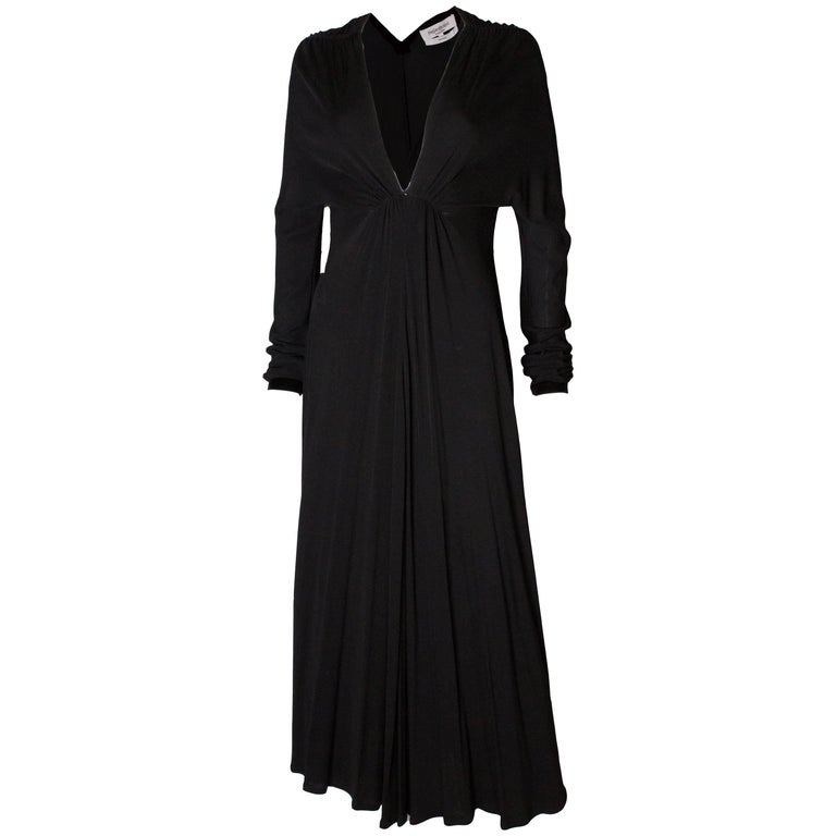 Vintage Yves Saint Laurent Black Evening Dress