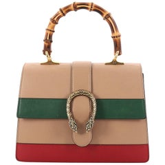Gucci Dionysus Bamboo Top Handle Bag Colorblock Leather Medium