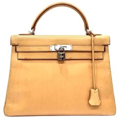 2005 Hermes Naturelle Sable Natural Leather Sac Kelly 32 Bag