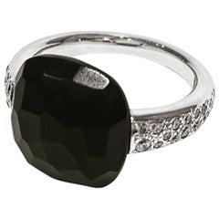 Pomellato Capri White Gold and Jet Stone Ring