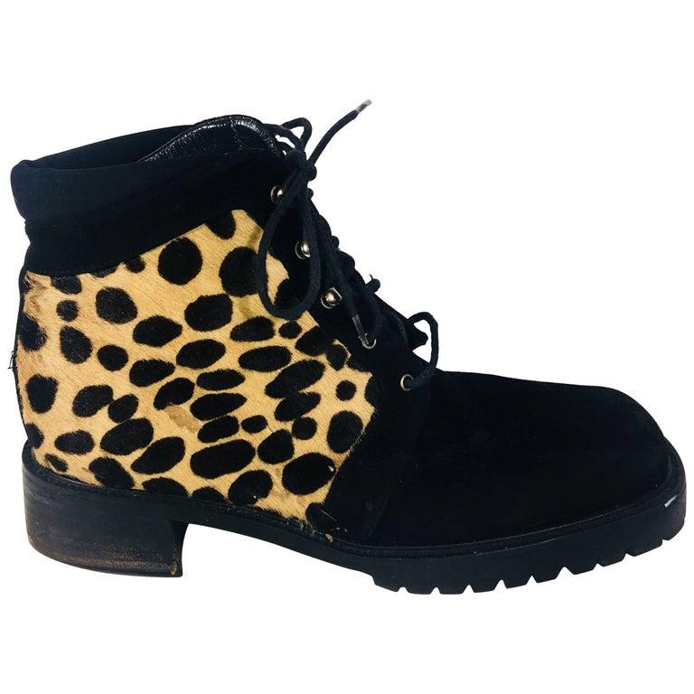 Stuart Weitzman Cheetah Print Ankle Boots