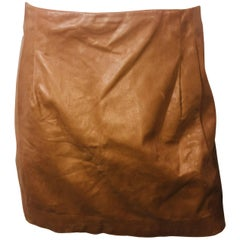Vince Camel Leather Skirt