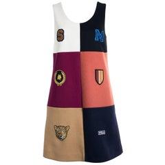 Stella McCartney Womens Multi Wool Sleeveless Heraldic Dress