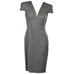 Grey Alexander McQueen Sheath Dress