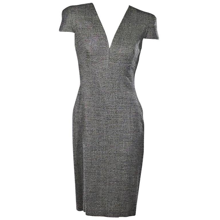Grey Alexander McQueen Sheath Dress