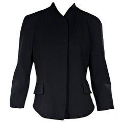 Black Proenza Schouler Three-Quarter Sleeve Jacket