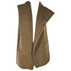 Tan Vintage Hermes Alpaca Snood