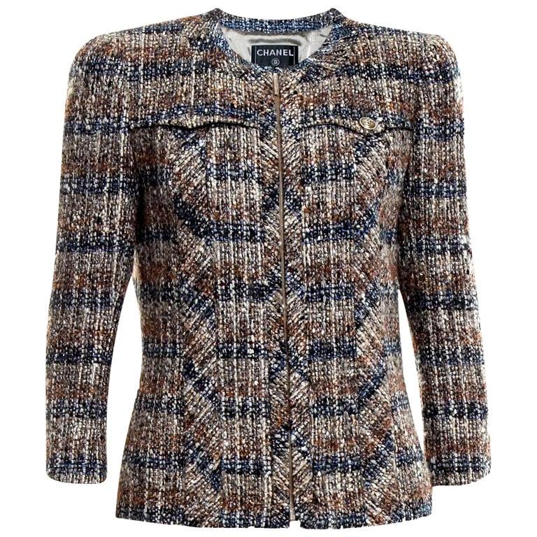 Chanel Metallic Multicolor Lesage Tweed Jacket Blazer