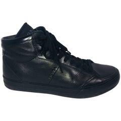 Men's Prada Leather Mid-Top Sneakers