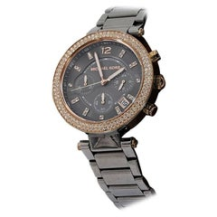 Gunmetal & Rose Gold Michael Kors Stainless Steel Watch