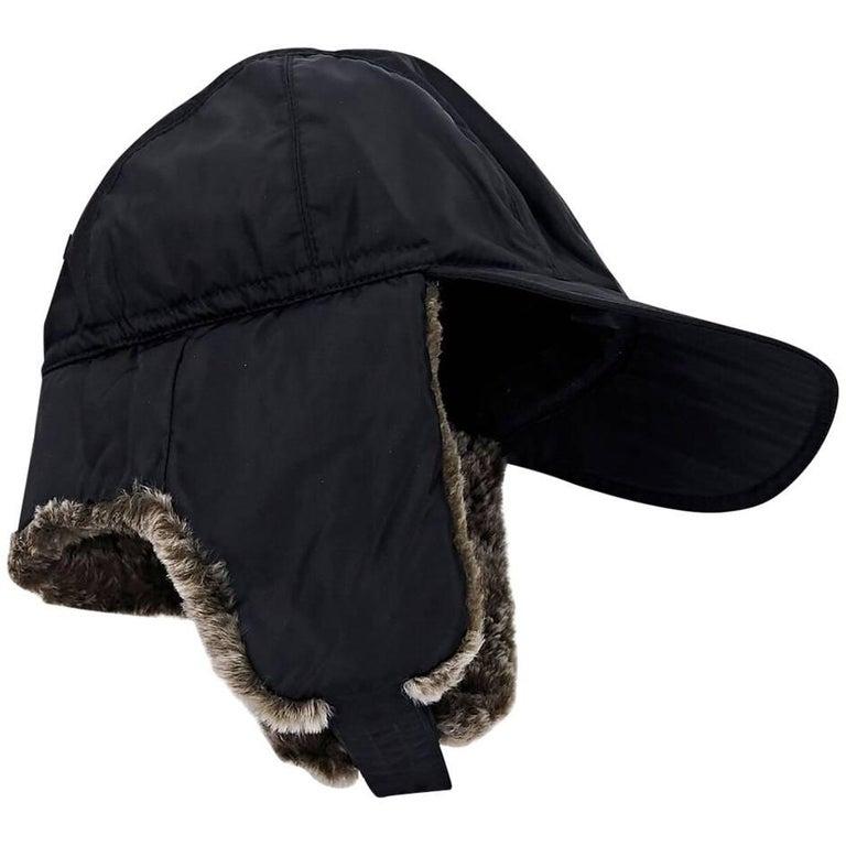 Black Prada Sport Trapper Hat For Sale at 1stdibs 1eee7a63d591