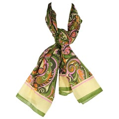 Multicolor Dolce & Gabbana Paisley Cotton Scarf