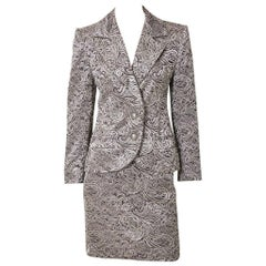 Jean-Louis Scherrer Metallic Lace Dinner Suit