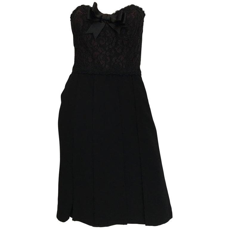 Bill Blass Black Cocktail Dress