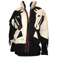 Neiman Marcus Vintage 1980's South Western Horse Puffer Jacket