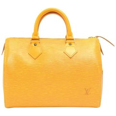 Vintage Louis Vuitton Speedy 25 Yellow Epi Leather City Hand Bag