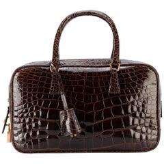 Prada Brown Crocodile Leather Vintage Bag, 2000s