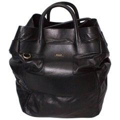 Bally Black Leather Bucket Bag