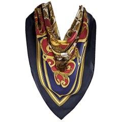 Multicolor Hermes Les Tuileries Silk Scarf