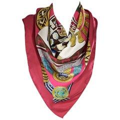 Multicolor Hermes Huaca Piru Silk Scarf