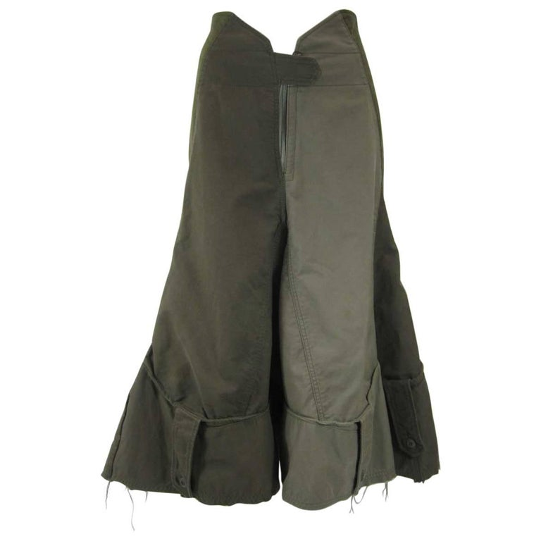 Junya Watanabe Commes des Garcons 2006 Deconstructed Military Skirt