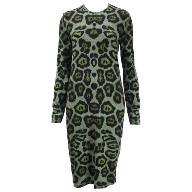 Givenchy Leopard Print Stretch Jersey Dress