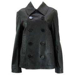 Balenciaga Leather Double Breasted Jacket