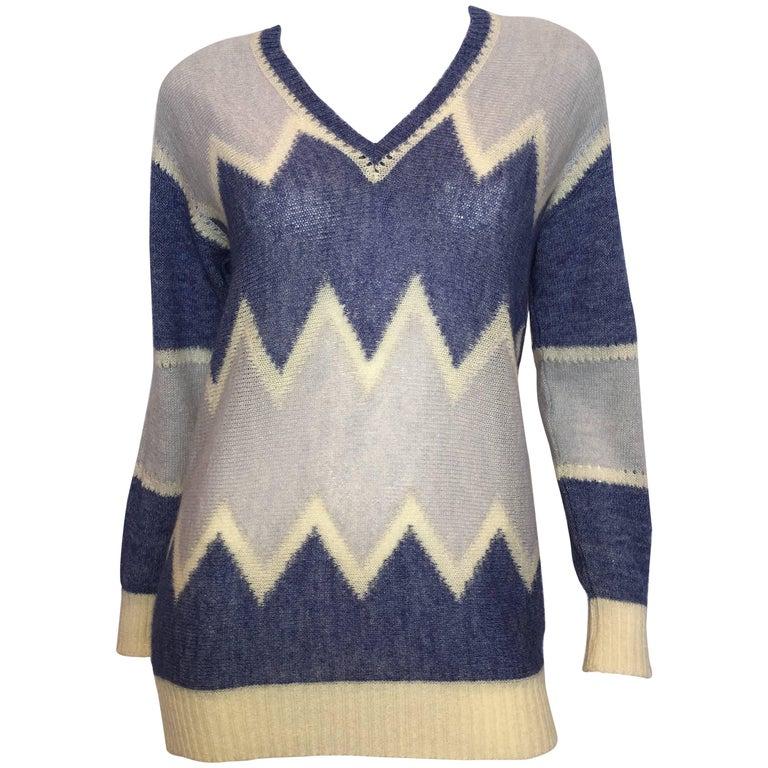 Courrèges Paris 1970's Mohair Sweater