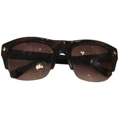 Balmain Brown Clubmaster Sunglasses