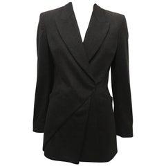 Claude Montana Gray Wool Suit Jacket, 1980s