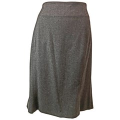 Claude Montana Dark Gray Suit Skirt, 1980s