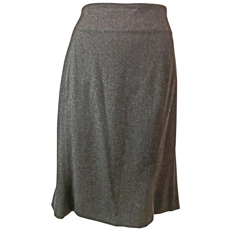 Claude Montana Dark Gray Suit Skirt, 1980s