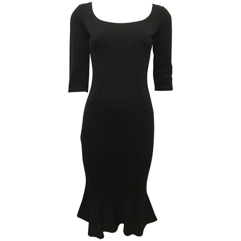 Dolce & Gabbana Little Black Dress with Ruffle Trim