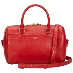 YSL Red Classic Baby Duffle Bag