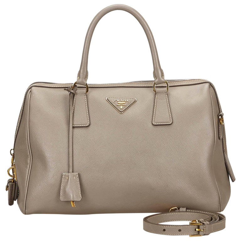 a6f7101d91d699 Prada Beige Saffiano 2 Way Bag For Sale at 1stdibs