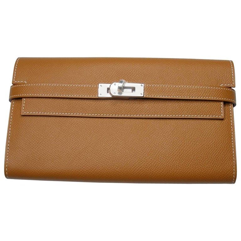Hermès Kelly Long Wallet Epsom Leather Gold and palladium Hardware / Brand New