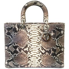 Dior Grey and Pink Python Large Lady Dior Bag, 2011