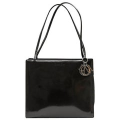 """Christian Dior """"Lady D"""" Bag in Brown Patent Leather and Canvas"""