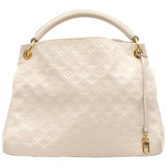 Louis Vuitton White Monogram Leather Hobo Bag