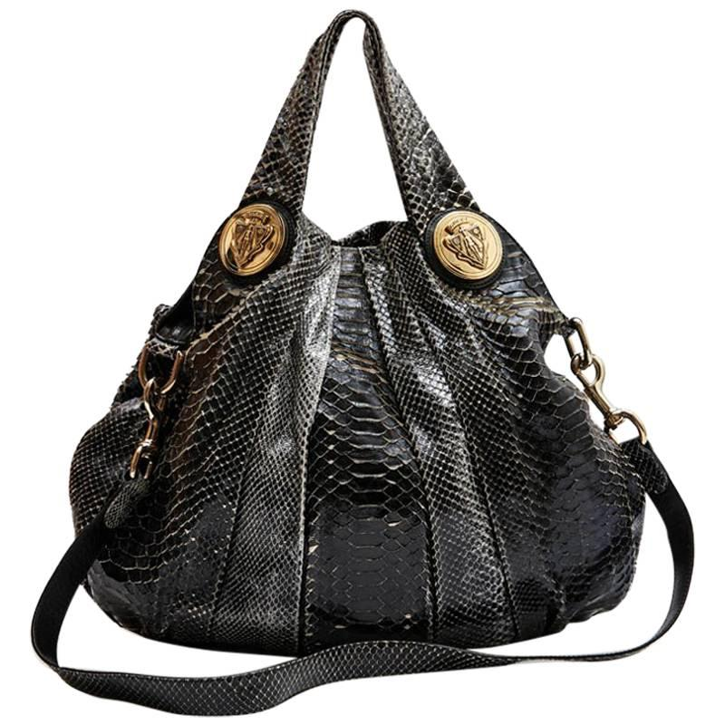 GUCCI Bag in Silver and Black Python