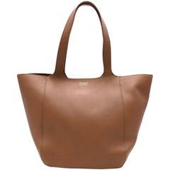Giorgio Armani Brown Leather Tote Bag