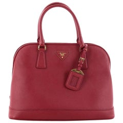 Prada Open Promenade Handbag Saffiano Leather Medium