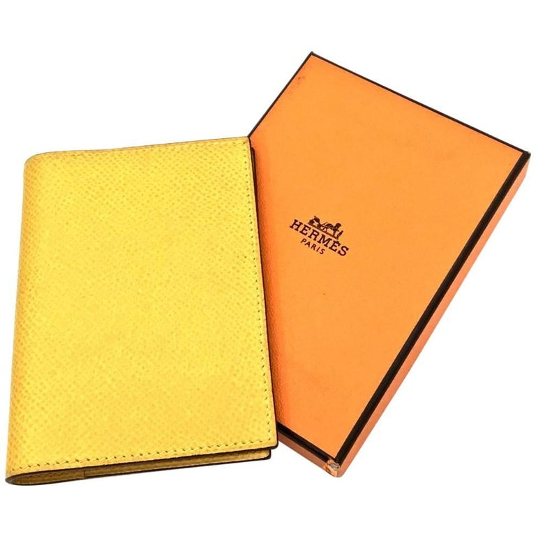 1998 Hermes Yellow Soleil Epsom Agenda PM Notebook Cover